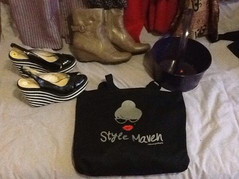 Carla was another gal that made out at the Annandale Shoe sale! Michael Kors wedges for $3.00.
