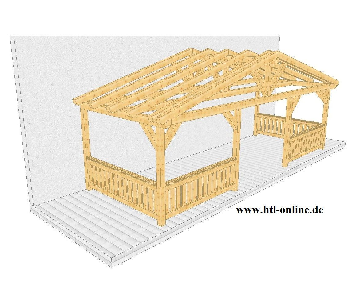 Überdachung aus Holz HTL Holztechnik Holz Arbeit mit