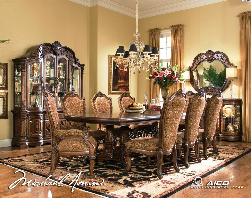 Traditional Living Room Sets | Windsor Court Rectangular Dining Room ...