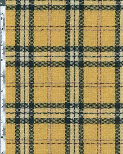 Rustic Wool Blend Chelsea Tartan Plaid Fabric By the Yard, Yellow ...