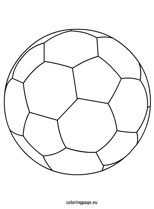 soccer ball coloring page szablony Pinterest Soccer ball and