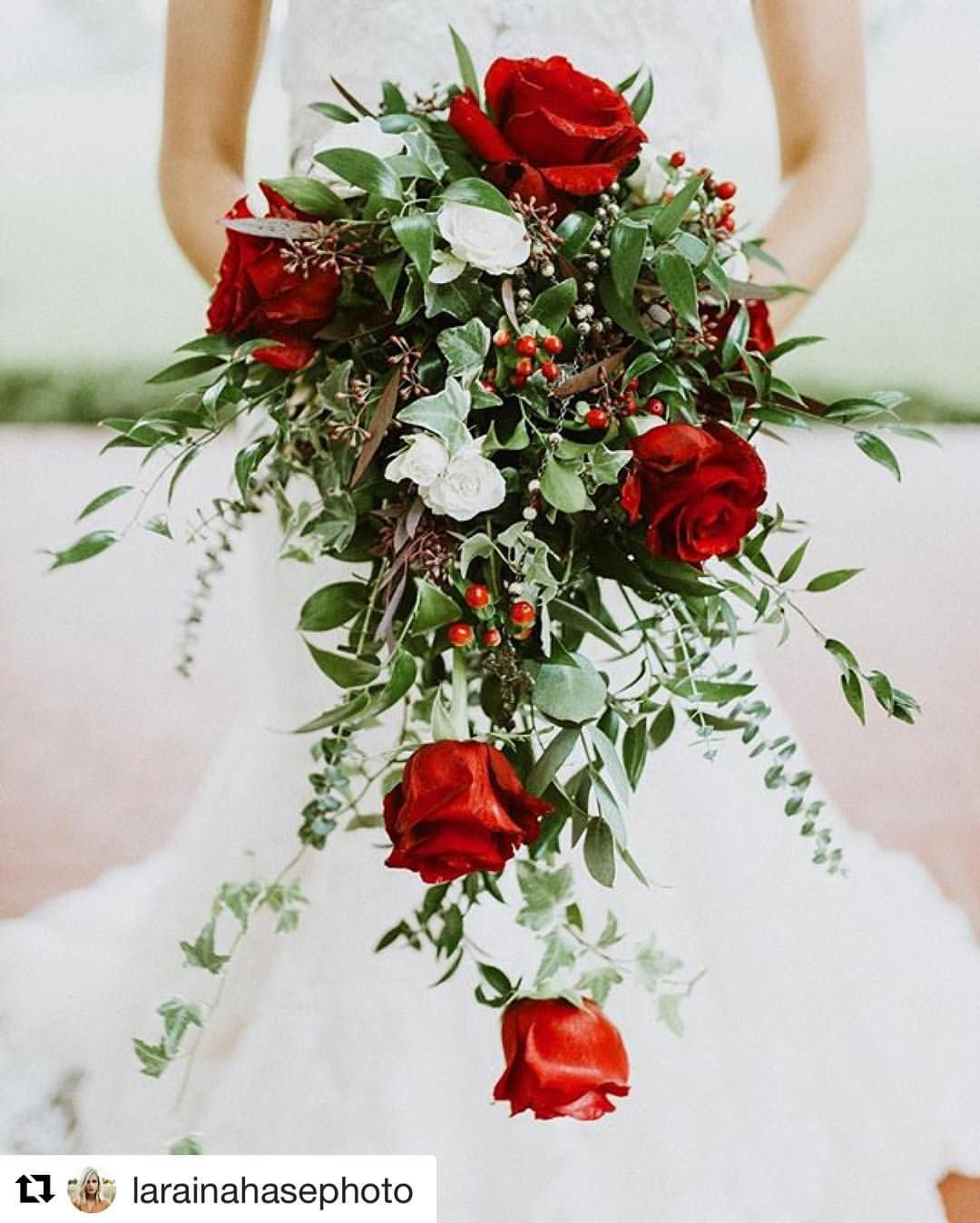 "The Idid Shop on Instagram: ""We are loving this Christmas bridal bouquet from @thebloomingcompany @larainahasephoto #christmaswedding #inspo """