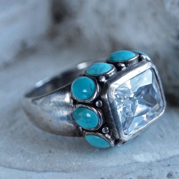 Sterling Silver Chunky Ring with by prettyinprague on Etsy, $75.00Vintage Sterling Silver Chunky Ring with by prettyinprague on Etsy, $75.00