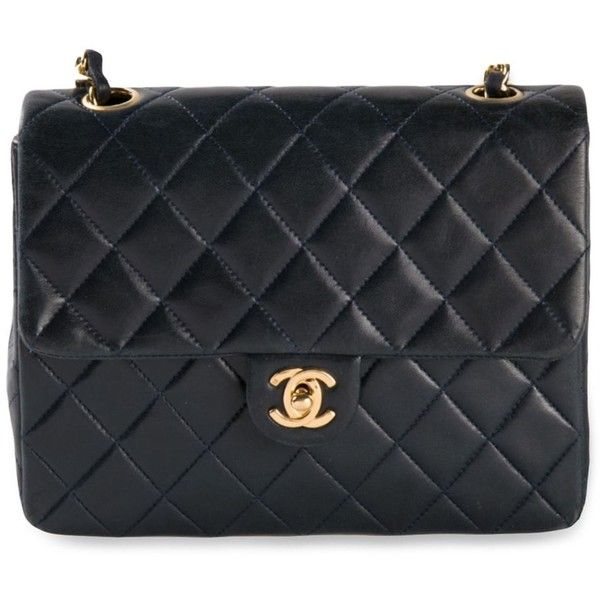 Chanel Vintage mini quilted flap bag (47.790.015 IDR) ❤ liked on Polyvore featuring bags, handbags, bolsas, chanel, purses, blue, mini purse, kiss-lock handbags, quilted chain purse and quilted handbags