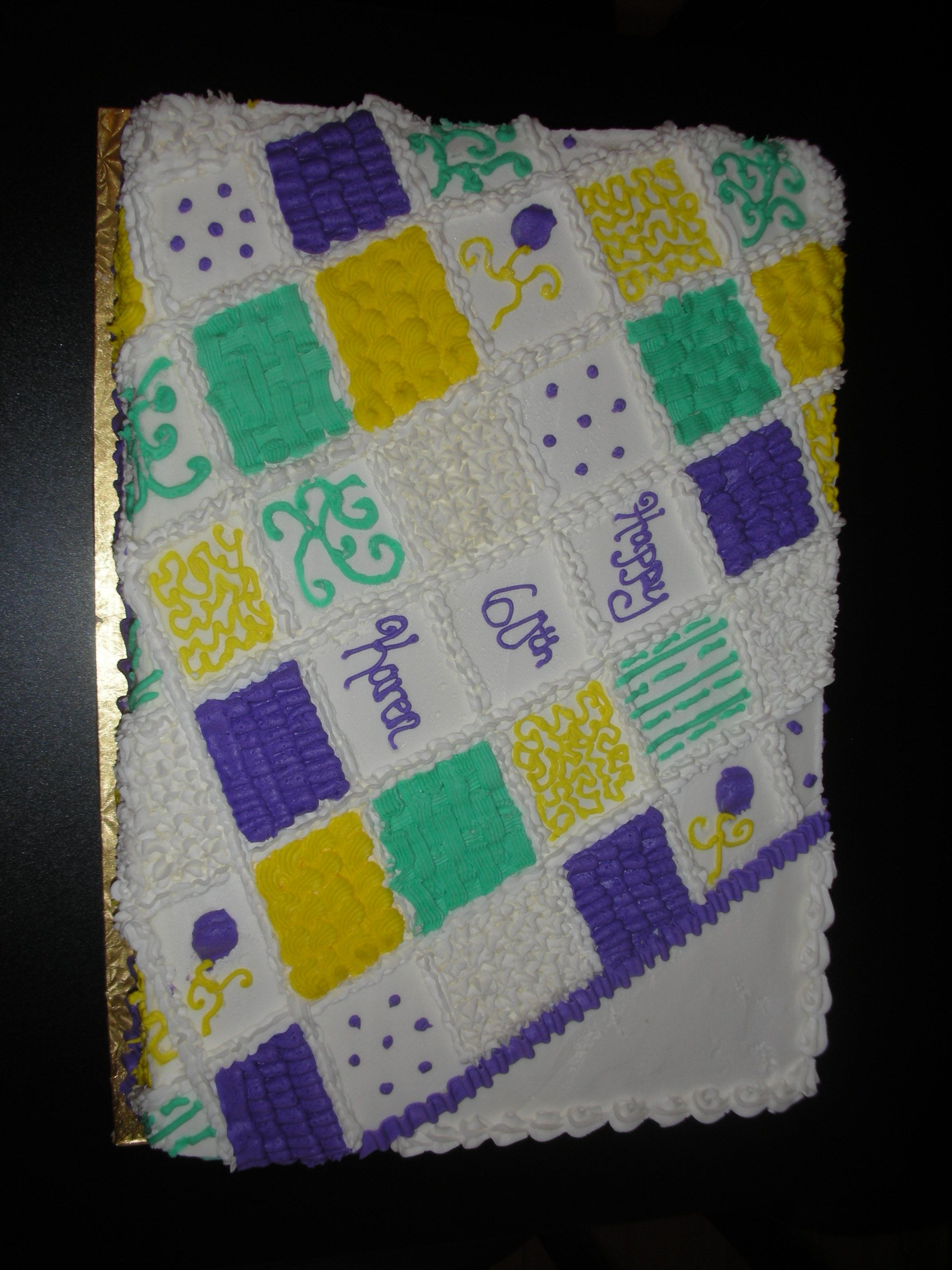 quilt cake Quilted cake, Cake decorating icing
