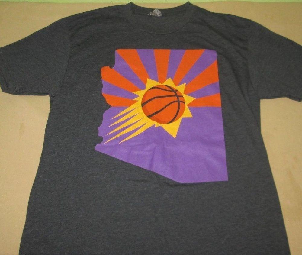 size 40 2bdbc abc55 PHOENIX SUNS NBA T Shirt Size Medium M - Gray - STATE FORTY ...