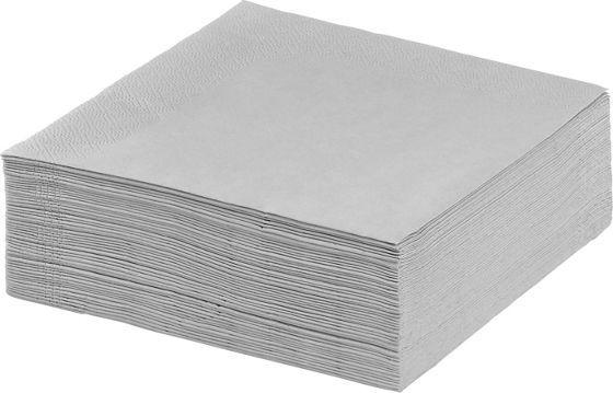 50 Servietten aus Papier in der Farbe Grau , 3-lagig.