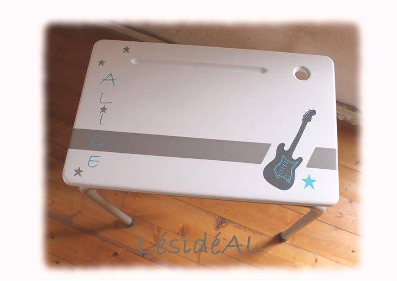 Bureau d ecolier relooké guitare rock tables lésidéal fait