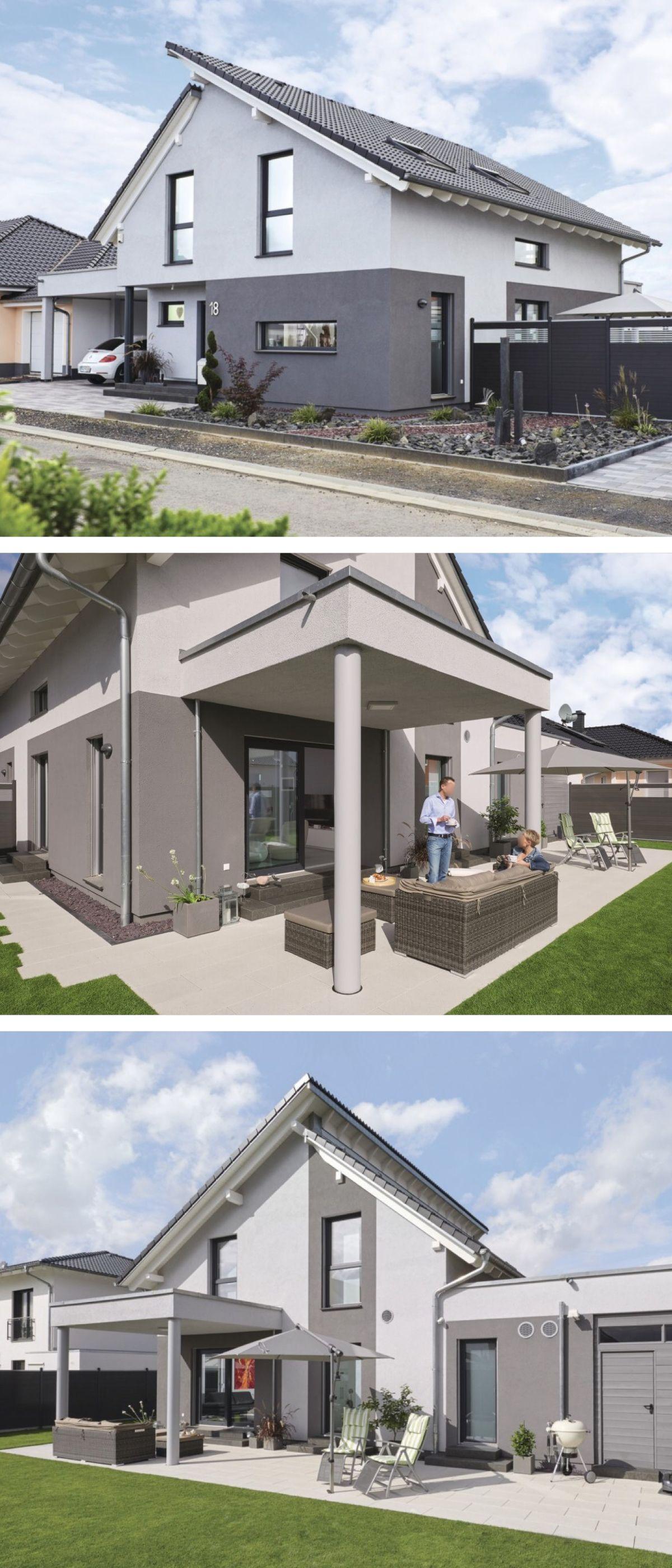 Moderne Einfamilienhaus Architektur mit Pultdach versetzt & Galerie ...