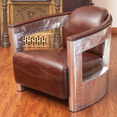 Trent Austin Design Swarna Leather and Metal Club Chair Products