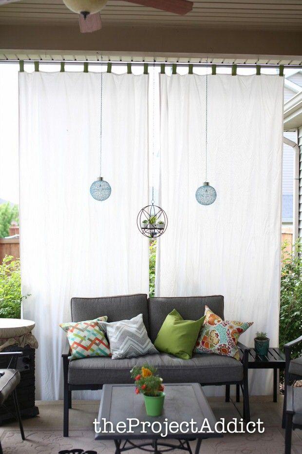 12 DIY Ideas For Patios, Porches And Decks. Outdoor CurtainsOutdoor ...