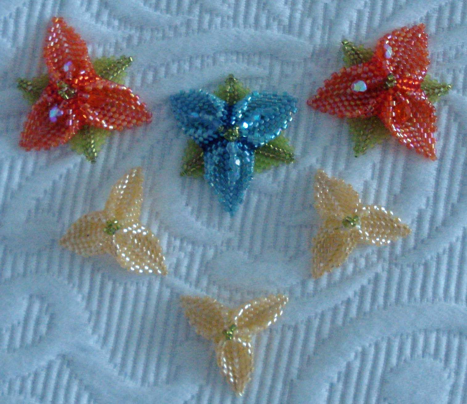 Floral pieces for necklace (mine)