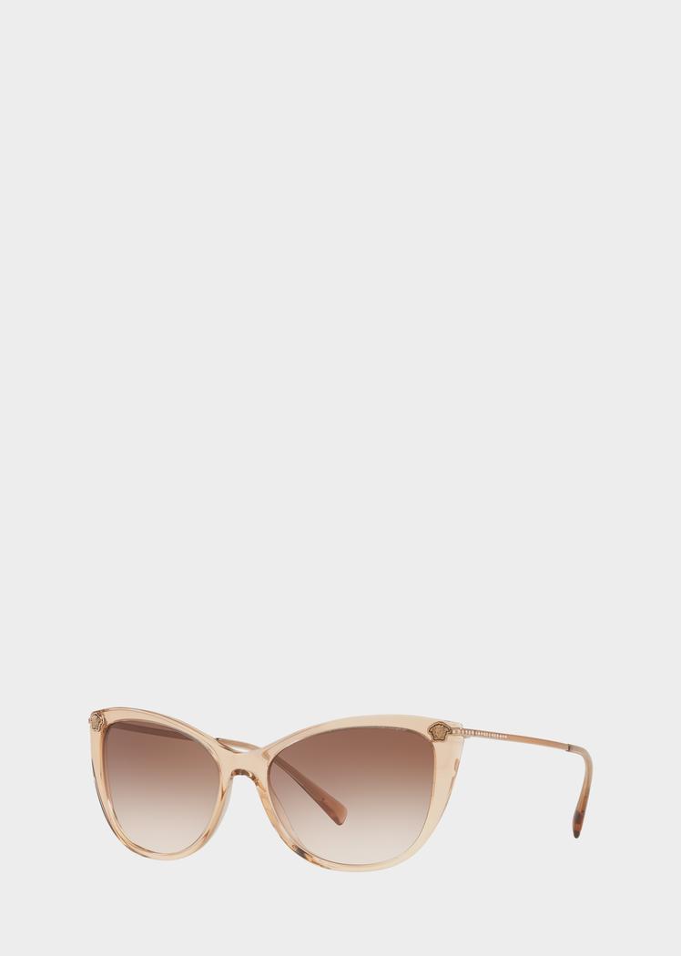 46af1d5c97a8 Versace Beige Medusa Strass Sunglasses for Women