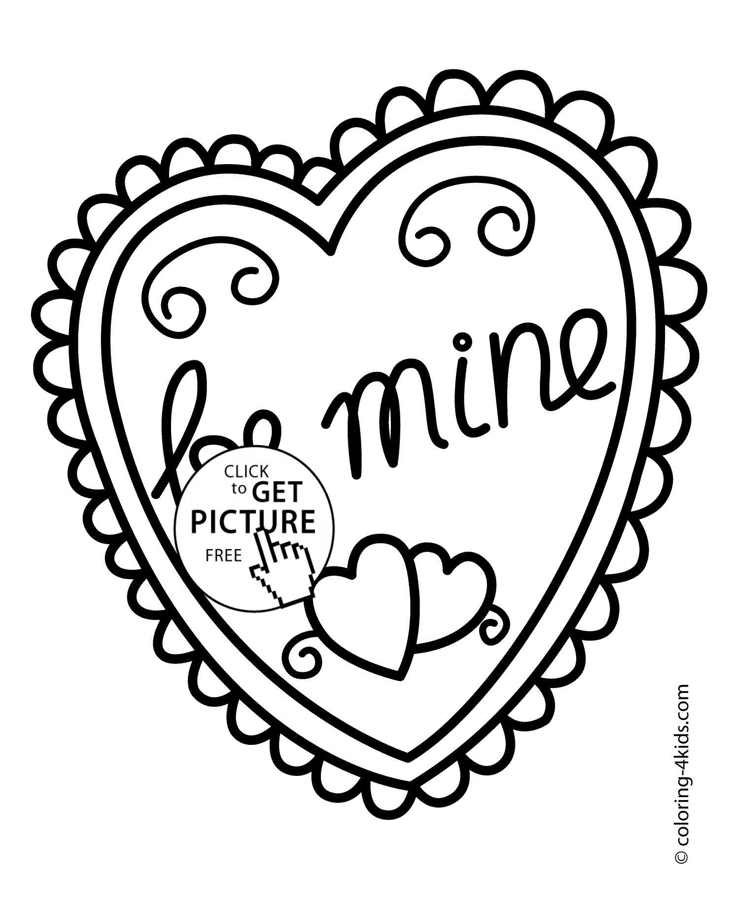 Free Printable Heart Coloring Page Valentines Day Coloring