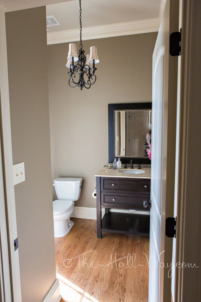 Powder Room Reveal Taupe Walls Living Room Paint Room Paint Colors