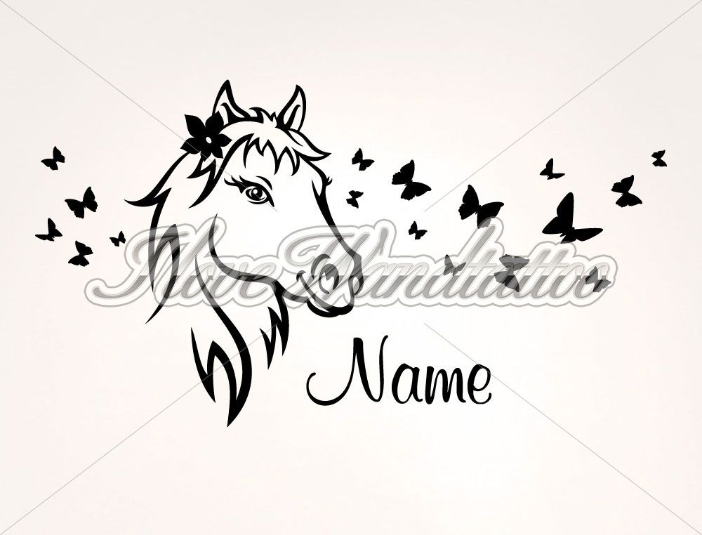 Wandtatoos Pferde wandtattoo pferd mit name selina zimmer