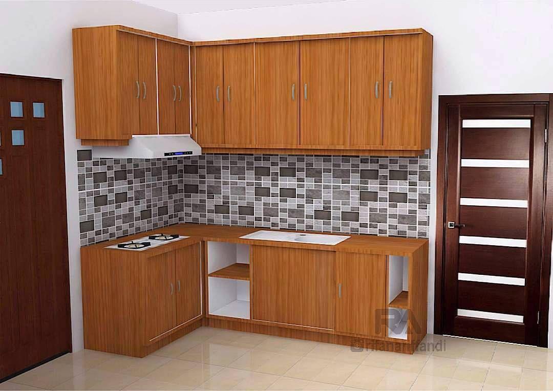 Gambar Kitchen Set Minimalis Modern Terbaru Dapur Kecil Desain Apartemen Kabinet Dapur