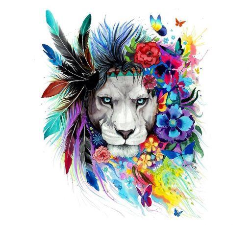 numerik pixie cold peinture aquarelle watercolor painting art lions en peintures dessins. Black Bedroom Furniture Sets. Home Design Ideas