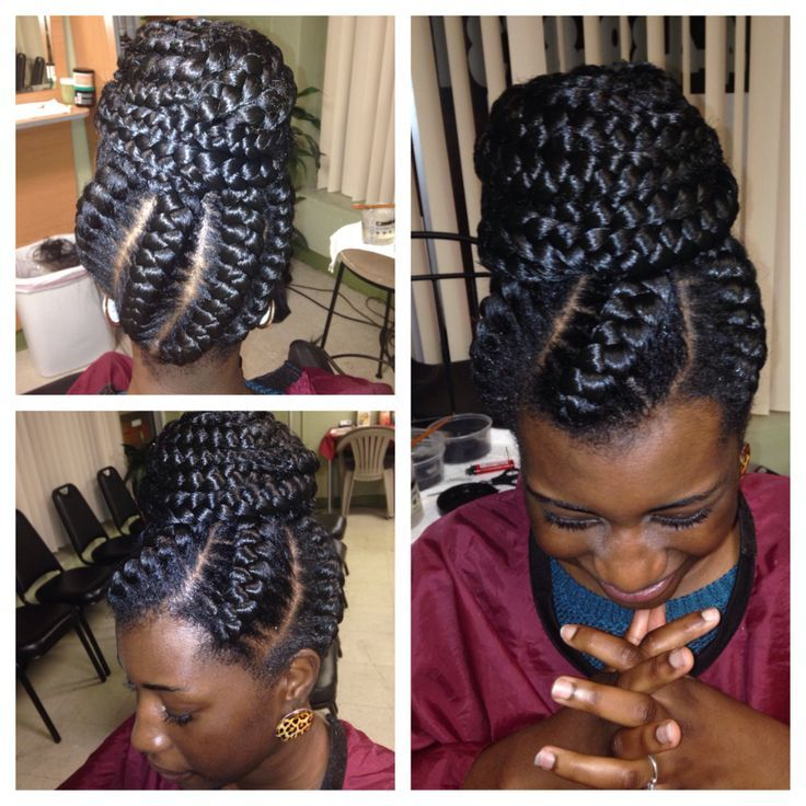 My Goddess Braids In A Bun Twist Braids Amp Hairstyles