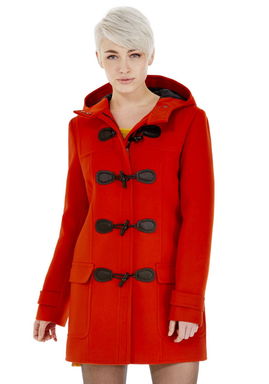 red duffle coat   FOR THE CLOSET   Pinterest   Coats ASOS and