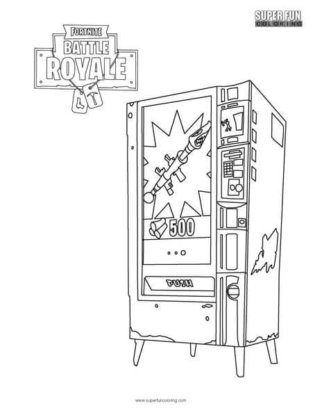 Fortnite Vendingmachine Coloring Page