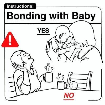 Bonding with baby - coffee break