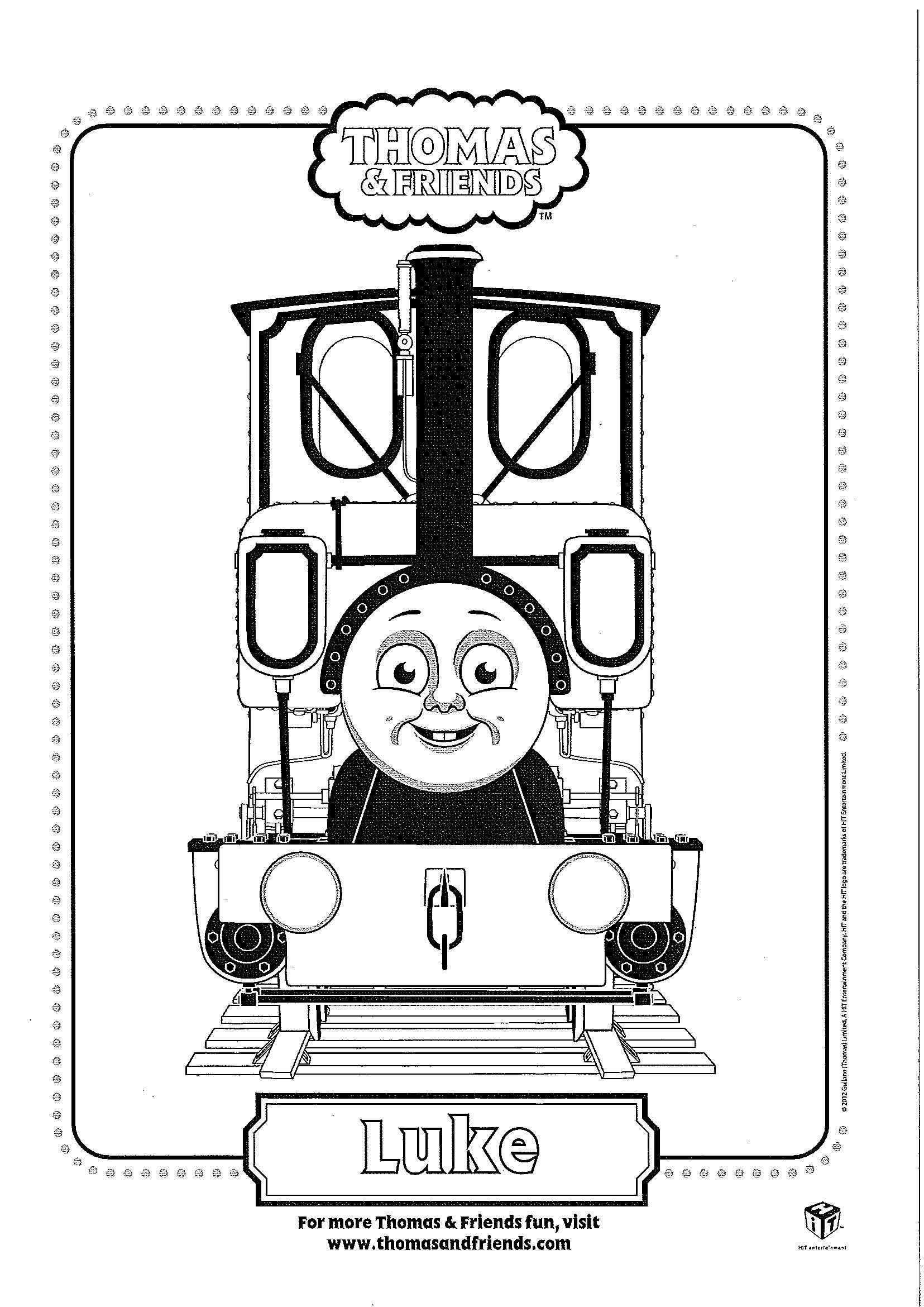Thomas Luke Train Coloring Pages Coloring Pages Coloring