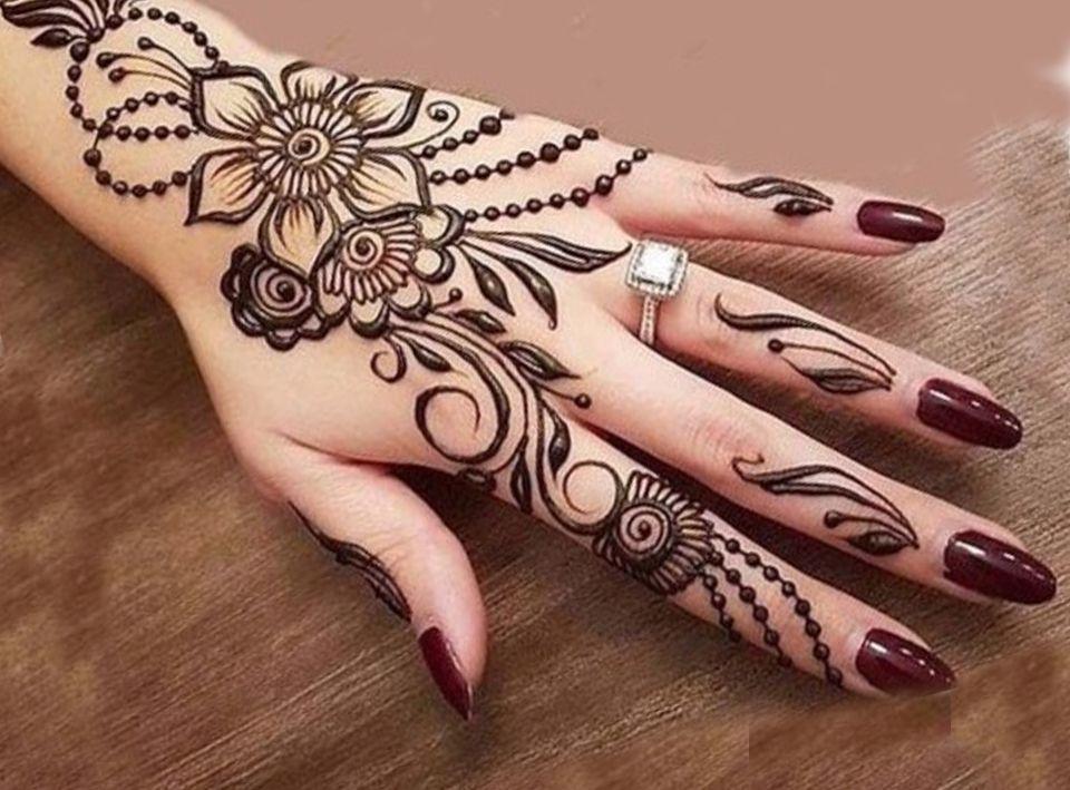 Back Hand Arabic Henna Design Mehndi Henna Designs Henna Mehndi