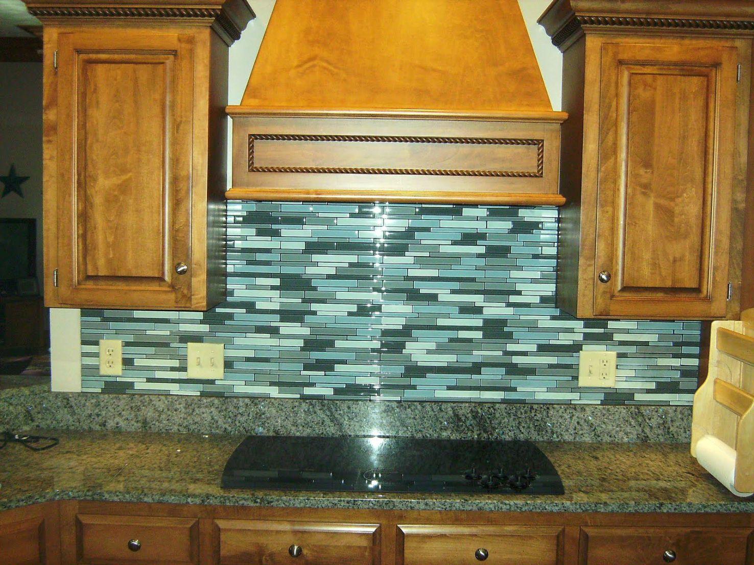 Awesome Granite Countertops With Glass Tile Backsplash Inspiration ...