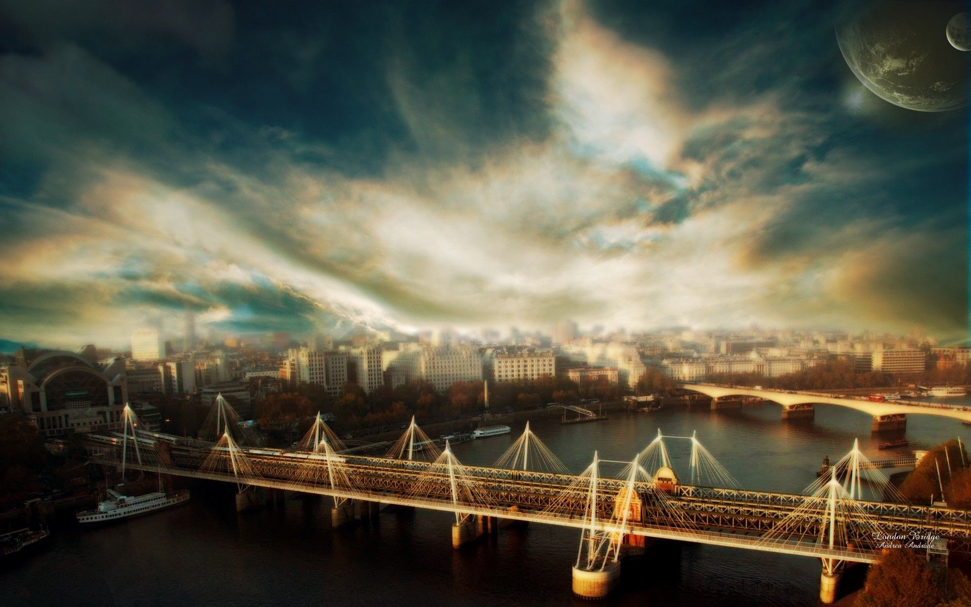 City Bridges Cities Skyscapes #wallpapers #widescreen