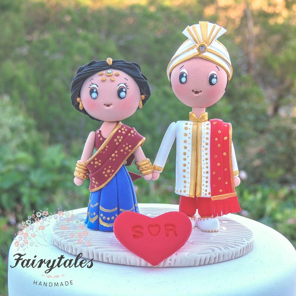 Indian wedding cake topper polymers pinterest indian wedding