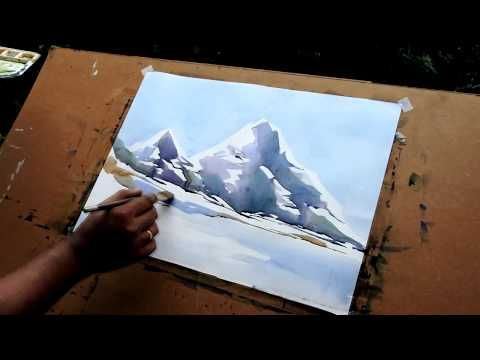Water Colour Painting Demonstration Youtube Watercolor Video