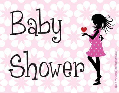 printable baby shower postcard invitations