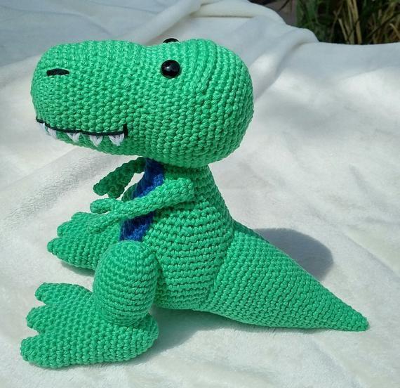 PDF T-Rex Crochet Pattern, Travis the T-Rex Crochet ...