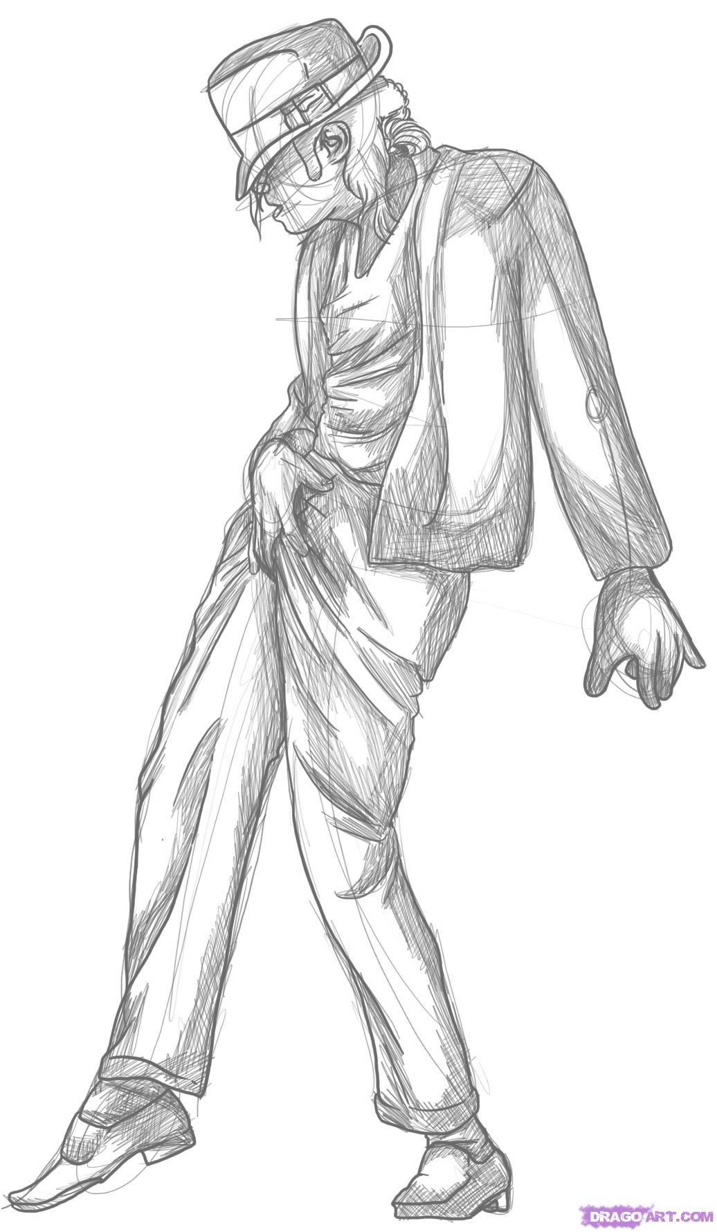 Drawing of michael jackson