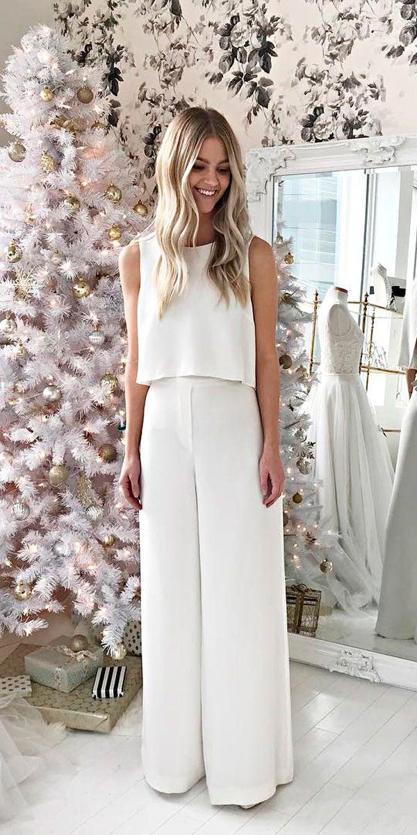 Trend 2019 27 Wedding Pantsuit Amp Jumpsuit Ideas Wedding
