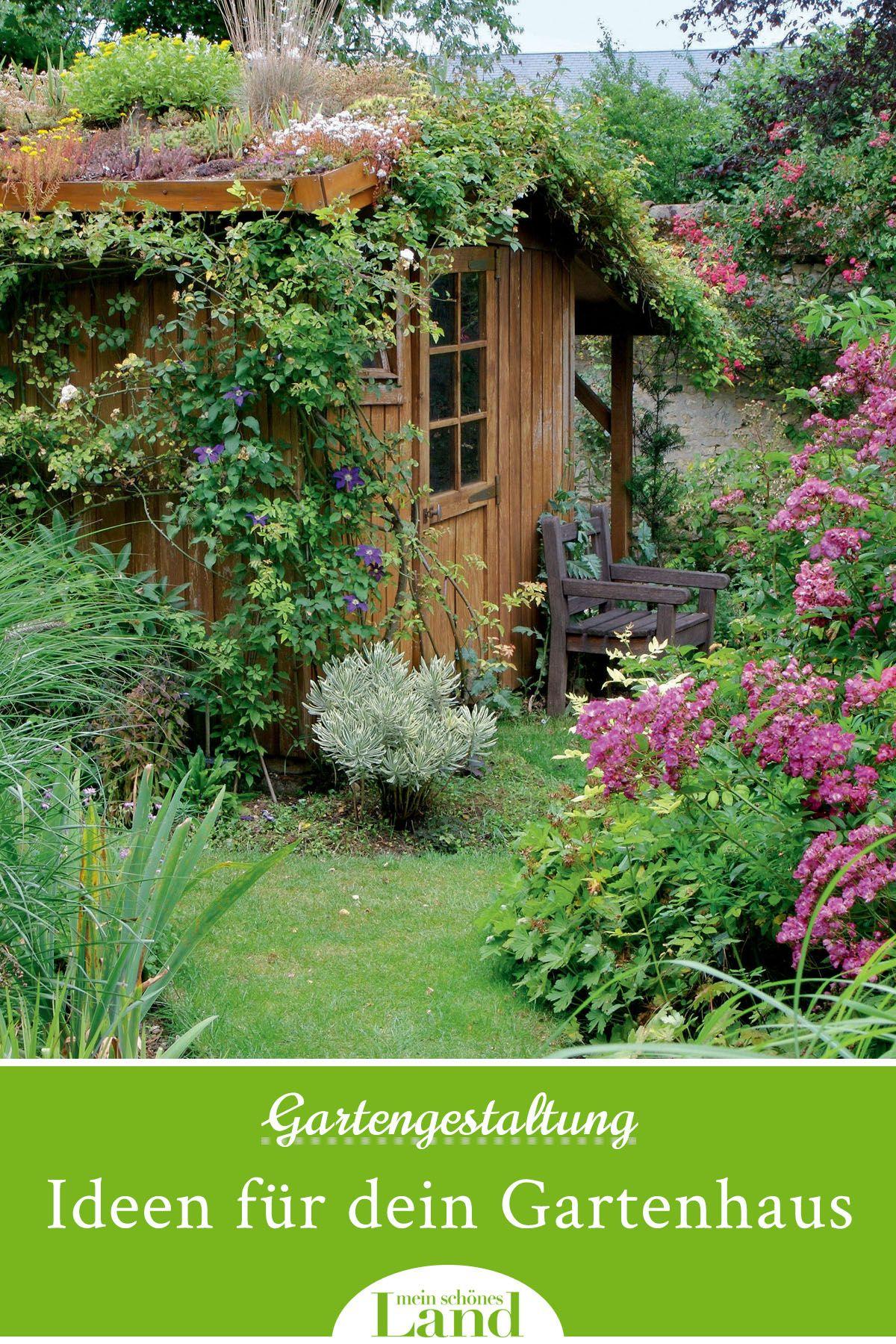 Gartenhäuser können wahre Schmuckstücke sein- wenn man sie richtig pflegt. In unserem Artikel geben wir dir Tipps, worauf du bei einem Anstrich achten solltest und wie du dein Häuschen perfekt pflegst.  #garden #gartenhaus #fruehling #inspiration #kreativ