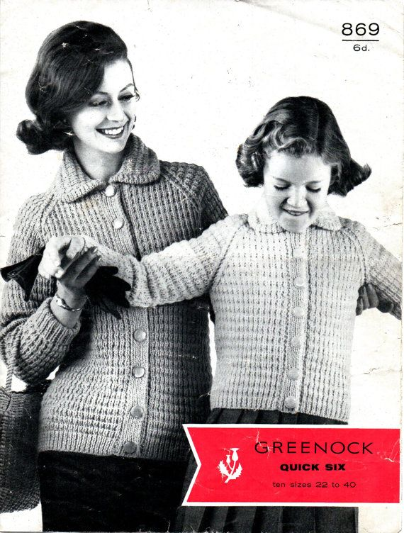 Vintage+1950's+Ladies/Girls+Knitted+Jacket+Pattern+in+by+Hobohooks,+£1.20