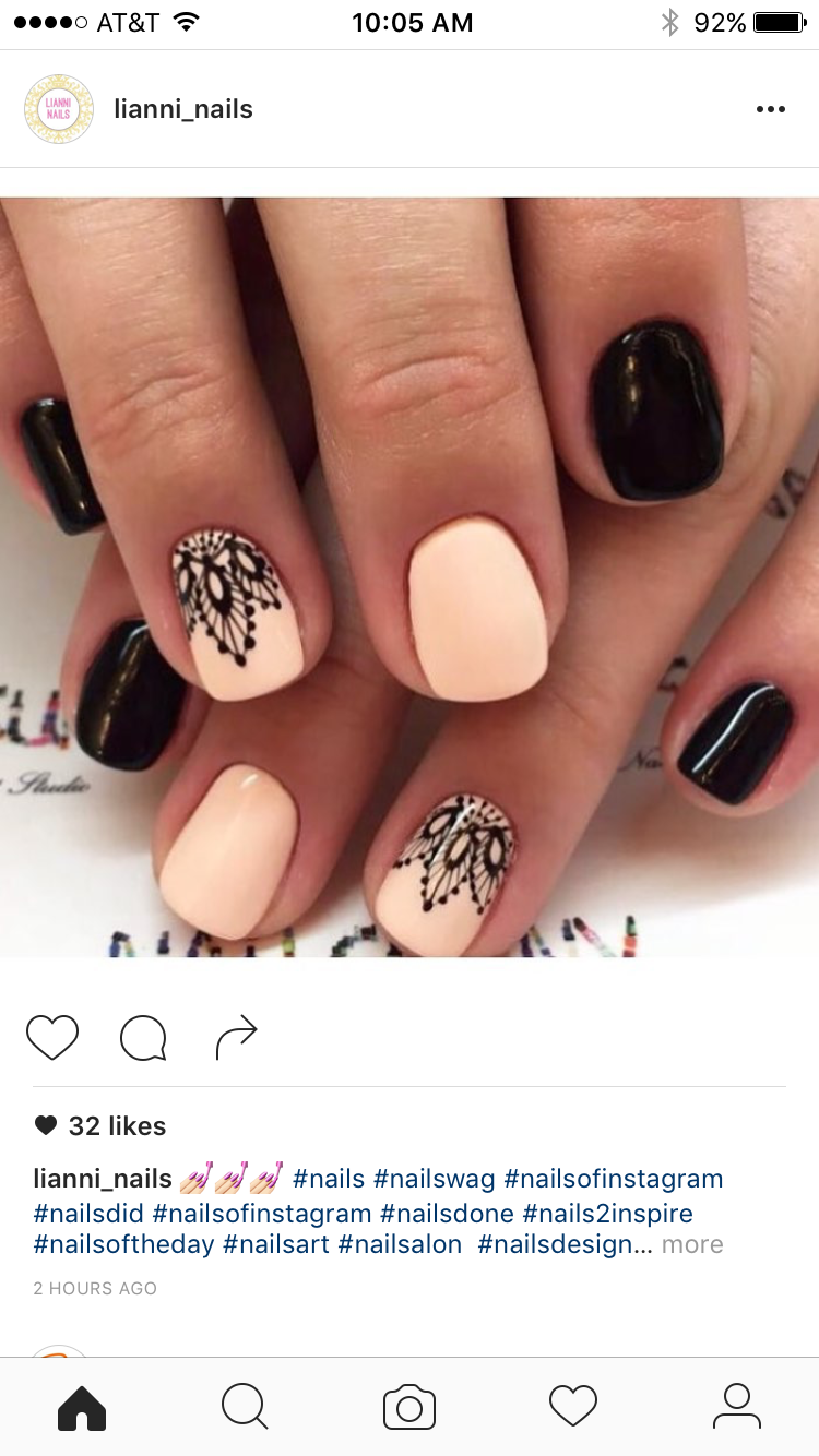 Pin by lisa castro on nailshairmakesup pinterest manicure fall nails ideas black and beige nails elegant nails evening nails ideas for short nails nail prinsesfo Choice Image