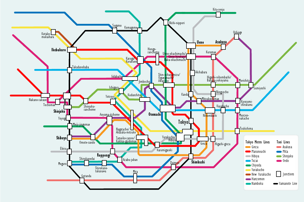 Subway map vector google search wayfinding signage pinterest map of tokyo japan metro map sciox Image collections