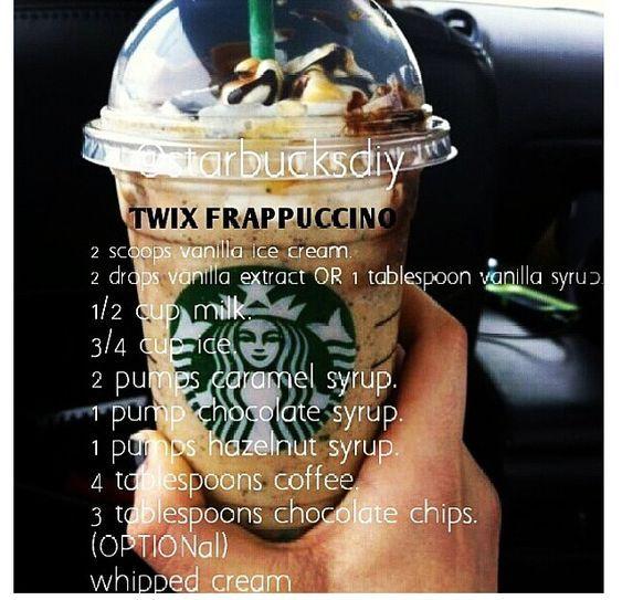 Starbucks diy Twix Frappuccino #starbucksfrappuccino