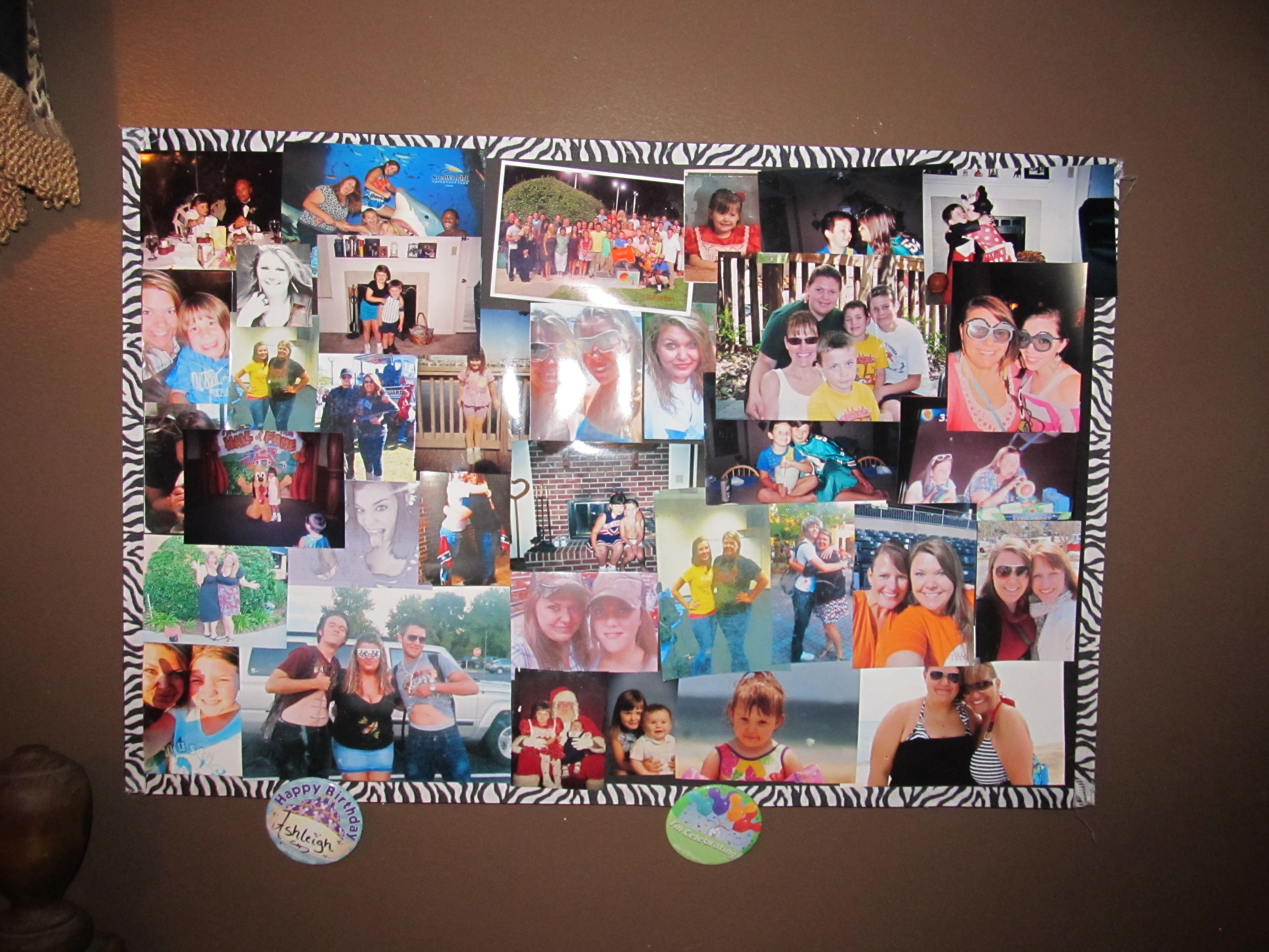 Photo Collage Board Foam Board Ribbon Glue And Pictures My