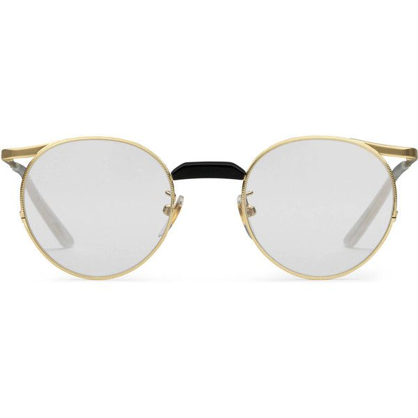 Gucci Round-Frame Metal Glasses (€365) ❤ liked on Polyvore ...