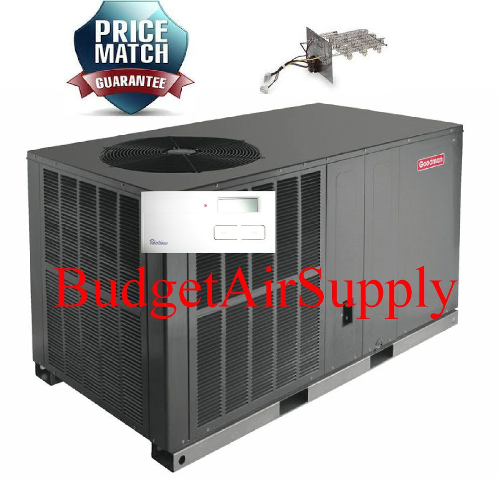 2 5 2 1 2 Ton 14 Seer Goodman A C All In One Package Unit Gpc1430h41 Tstat Heat The Unit Heat All In One