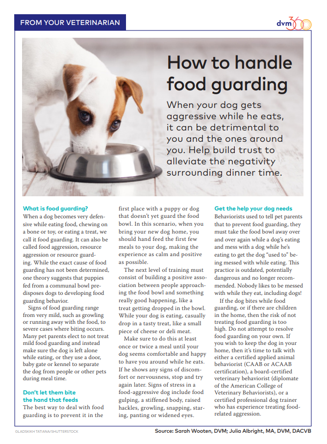 How To Handle Food Guarding Food Aggressive Resource Guarding Dogs Pet Clinic Animal Hospital Pet Health Care