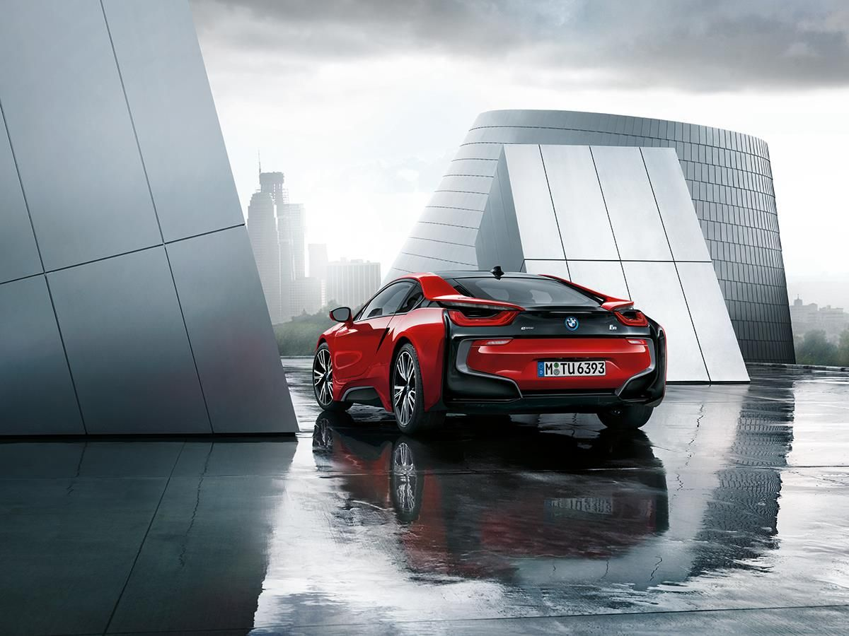 Bmw I8 Edrive Coupe Red Devil Fire Burn Electric Badass