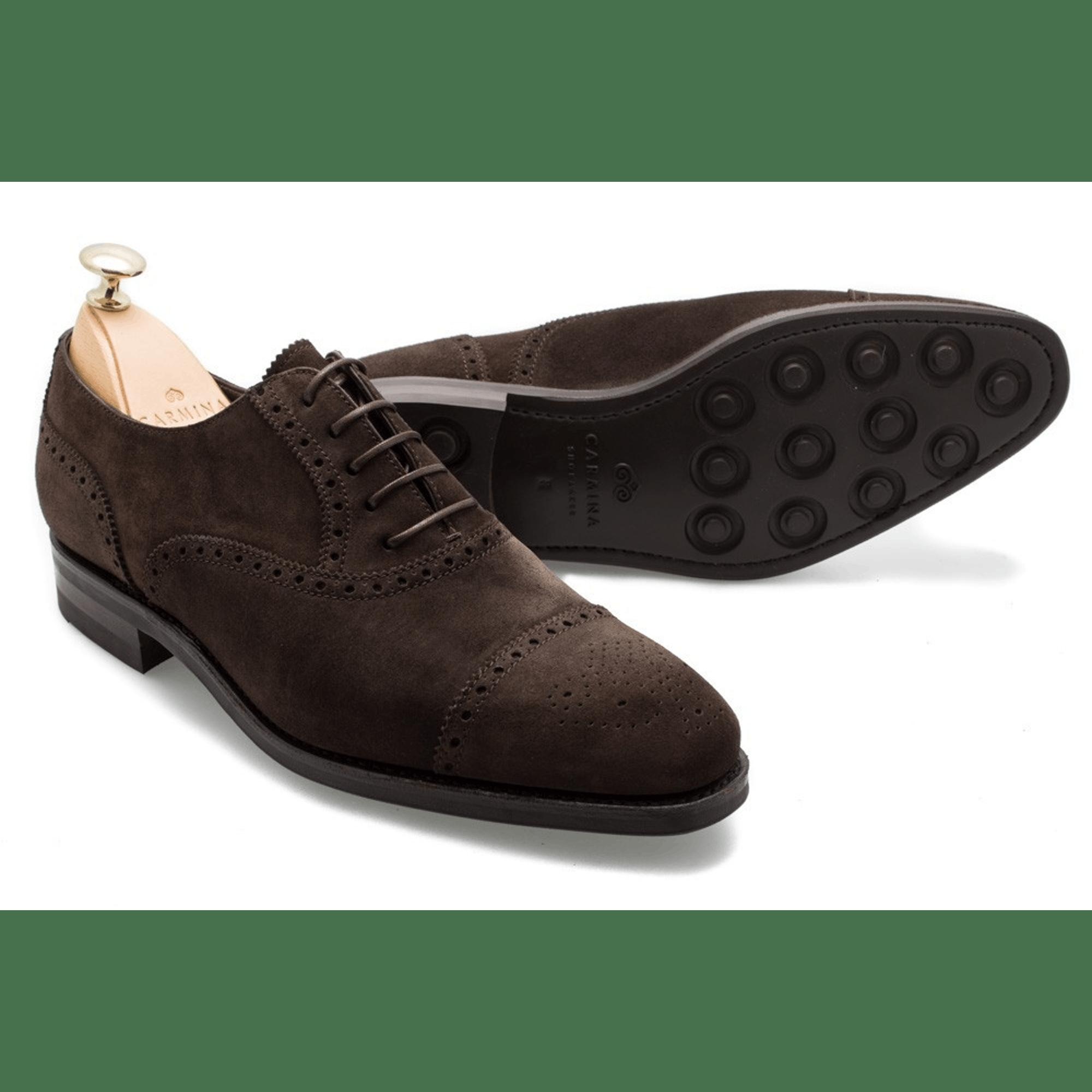13317927c05 Carmina Rain 10051 Suede Brogued Captoe Oxford in 2019   shoes ...