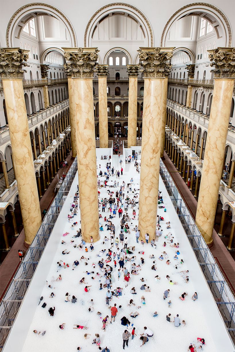snarkitecture turns the national building museum into a 10,000 sq ... for Light Installation Art Indoor  51ane