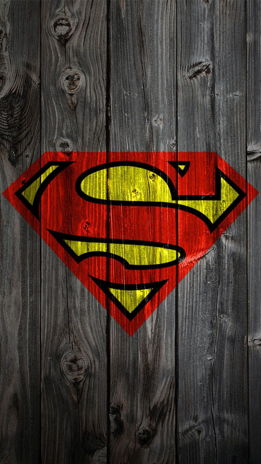 Wallpaper iphone superhero - Iphone Wallpaper Superman Logo On Wood