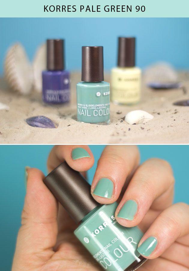 KORRES Pale Green nail polish   Nails   Pinterest   Green nail ...